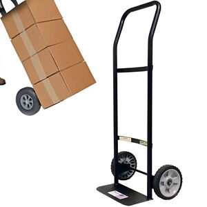 300 Lbs Capacity Hand Truck Dolly Cart 2 Wheel Rolling Moving Lightweight Metal