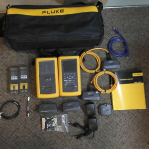 Fluke Dsp 4000 Cable Analyzer With Dsp 4000sr Full Kit