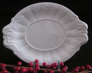 Elsmore Forster White Ironstone Ceres Shape Sauce Tureen Underplate