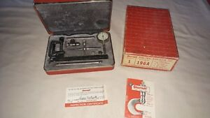 Starrett 196a Dial Test Indicator W Box And Case Excellent Condition