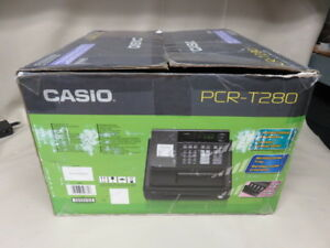 Casio Pcr t280 Electronic Cash Register With Keys And Box