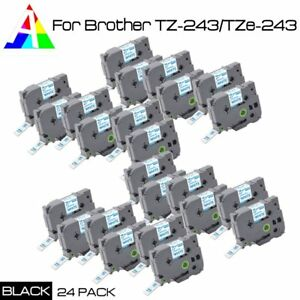 Us Stock 24 Pack Tz 243 tze 243 Tape Label P touch For Brother Pt h500li New