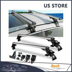 Universal 48 Car Suv Top Roof Cross Bar Luggage Cargo Carrier Rack With Clamp
