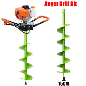 15cm Dia Auger Bit Electric Post Hole Digging Digger For Soil Ice Fence Decks