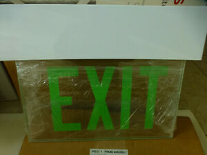 Exit Sign Emergency Lite Ceiling Lime Green Pglo Led Lighting Flat Panel