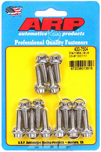 Arp Aluminum Valve Cover 14 Piece 12 Point Bolt Kit Stainless Arp 400 7504 Usa