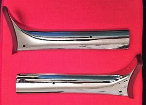 Vintage 1964 1966 Imperial Left Right A Pillar Upper Windshield Chrome Trim