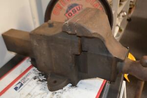 Vintage Antique Solid Heavy Duty Bench Vise Vice 6 jaw