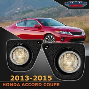 Fit Honda Accord Coupe 13 15 Clear Lens Pair Oe Fog Light Lamp Wiring Switch Kit