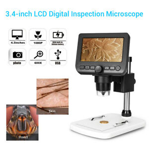 4 3 Hd 1080p Usb Digital Microscope Cam Android Windows Tv Endoscope 600x Zoom