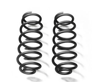 Black Rear Coil Springs For Jeep Wrangler Jk 07 18 With 2 5 Lift Steinjager
