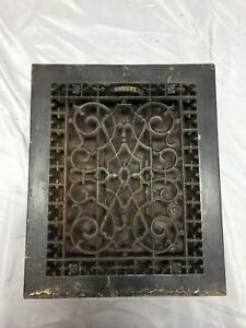 Antique Cast Iron Decorative Heat Grate Floor Register 8x10 Vintage Old 545 18c