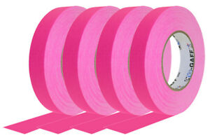 4 Pack 1 Inch Neon Pink Pro Gaffer Gaffers Tape 50 Yd Rolls
