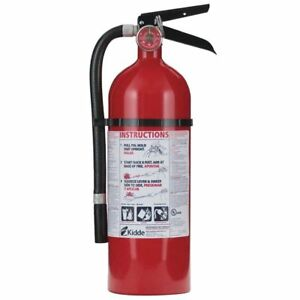 Kidde 21005779 Pro 210 Fire Extinguisher 4lb Abc 2 a 10 b c Rated Rechargeable