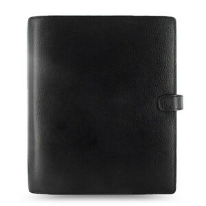 Filofax A5 Size Finsbury Planner Notebook Diary Black Leather Organiser 025368