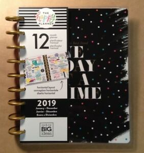 New Happy Planner Classic one Day At A Time 12 month Horizontal Planner