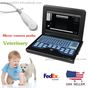 Usa Veterinary Laptop Ultrasound Scanner Machine micro convex Small Animal Use