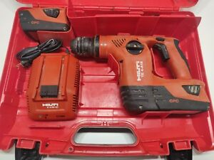 Hilti Cordless Rotary Hammer Drill Model Te4a18 W 2 Batteries Charger case
