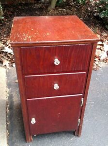 Antique Primitive Handmade Small Dresser 2 Draw 1 Door Pick Up Only Nj