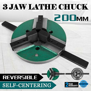 8 3 Jaw Lathe Chuck Wp 200 200mm Reversible Milling Quick Clamping Wood Turning