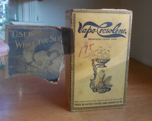 Original 1915 Era Empty Box For Vapo Cresolene Medical Vaporizer Lamp Box Only