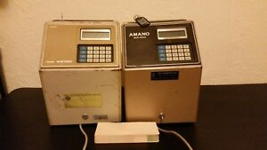 Amano Mjr7000 Time Clock Heavy Duty Computerized Calculating Lot Of 2
