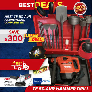 Hilti Te 50 Avr Hammer Drill Preowned Free Grinder Core Bits Fast Ship