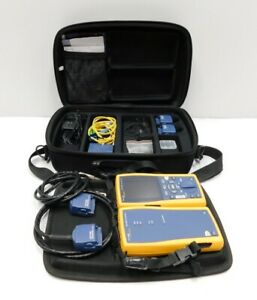 Fluke Dtx 1800 Cable Analyzer W Smart Remote Case Adapters e10 823