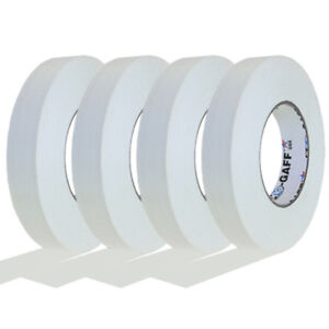 4 Pack 1 Inch White Pro Gaffer Gaffers Tape 55 Yd Rolls