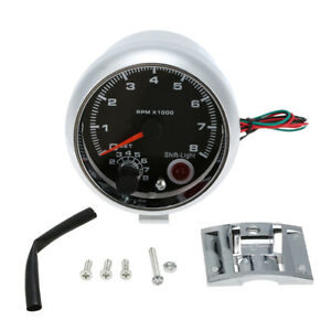 3 75inch Tachometer Tacho Gauge Meter Adjustable Led Shift Light 0 8000 Rpm U0f2