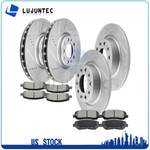 Front Rear Brake Discs Rotors Ceramic Pads For 2013 2014 2015 2016 Dodge Dart