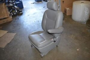 2005 Toyota Sienna Right Passenger Front Seat Chair Gray Leather Airbag Heated