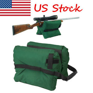 US Front & Rear Shooting Bag Gun Rest Target Sports Rifle Bench Unfilled Sand