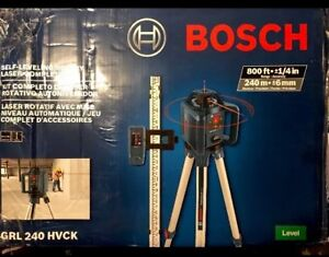Bosch Self Leveling Rotary Laser Complete Kit Grl 240 Hvck Ships Free New