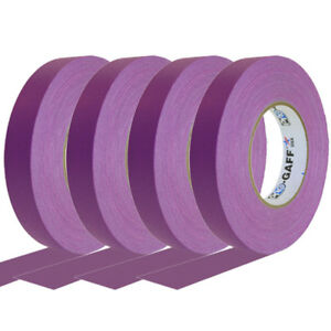 4 Pack 1 Inch Purple Pro Gaffer Gaffers Tape 55 Yd Rolls