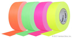 4 Pack 2 Inch Fluorescent Pro Gaffer s Tape 50 Yd Rolls