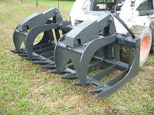 Bobcat Skid Steer Attachment 80 Heavy Duty Root Grapple Bucket Ship 199