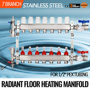 7 Branch loop 1 2 Pex Radiant Floor Heating Manifold Set Safe Tested