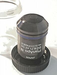 Olympus Planapo N 60x 1 42 Oil Inf 0 17 Uis2 Microscope Objective