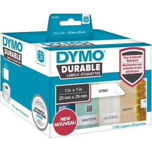 Dymo Industrial Multipurpose Label 1 Width X 1 Length Direct Thermal 1700 roll