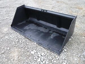 Bobcat Skid Steer Attachment 84 Snow Mulch Litter Smooth Bucket Ship 199