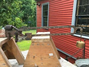 Vintage Antique Solid Brass Beam For Platform Scale W Weights 7000 Lb Capacity