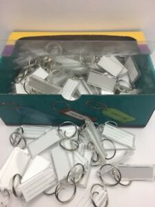 Line Extra Strength Key Tag With Split Ring 100 Per Box Clear 20400