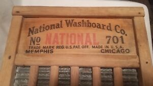 Vintage Antique National Washboard Co The Zincking No 701 Old Wash Board Top