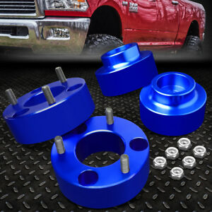 For 2009 2018 Dodge Ram 4wd Blue 3 Front 2 Rear Complete Leveling Lift Kit