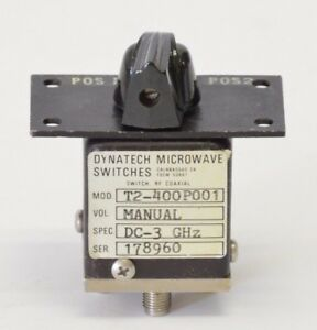 Dynatech Microwave ducommun Switch Rf Coaxial Manual 2 pos Dc 3ghz T2 400p001