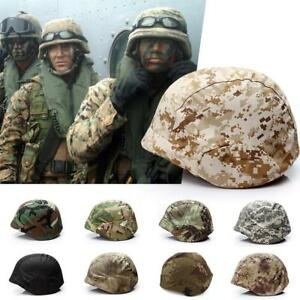 Tactical Helmet Cover CS Military Paintball Camouflage Printing Cloth For M88 #E