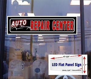 Auto Repair Center Light Up Window Sign 48x12