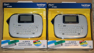 Brand New lot Of 2 Brother P touch Pt m95 Personal Label Maker Factory Sealed