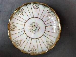 Royal Sealy China Japan Iridescent Gold Saucer